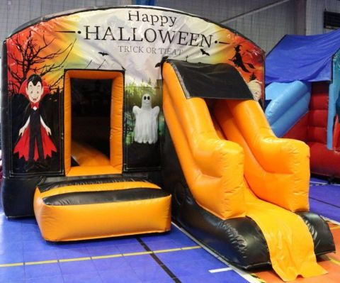 Haunted House Bouncy Castle With Slide
