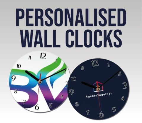 19cm Diameter Personalised Round Wall Clocks
