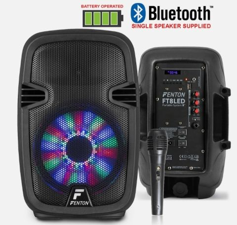 Portable Bluetooth Pa System Speaker With Mic