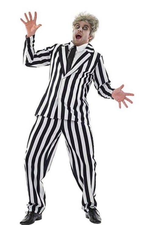 Black And White Stripped Suit (large)