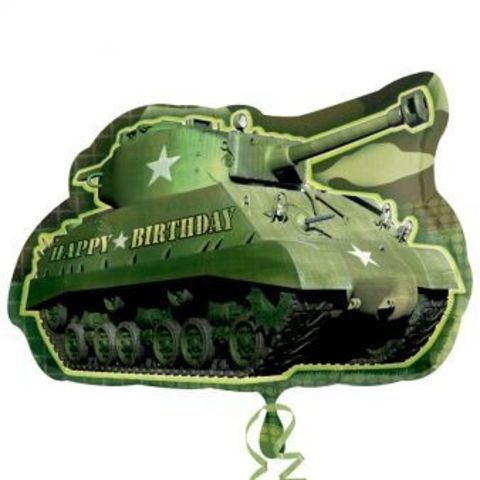 Camouflage Birthday Army Tank Supershape