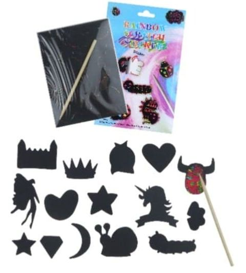 Scratch Art Sticker Set