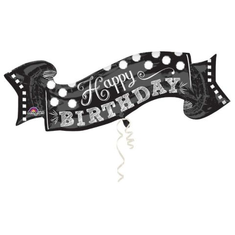 Chalkboard Happy Birthday Foil Supershape