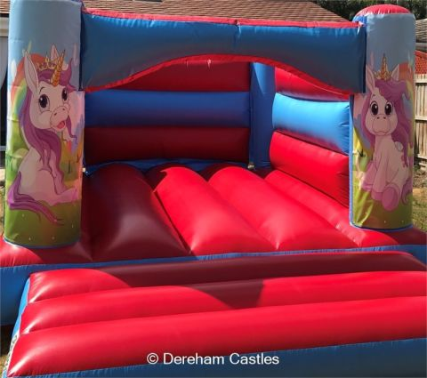 11ft X 15ft Low Height Unicorn Themed Bouncy Castle