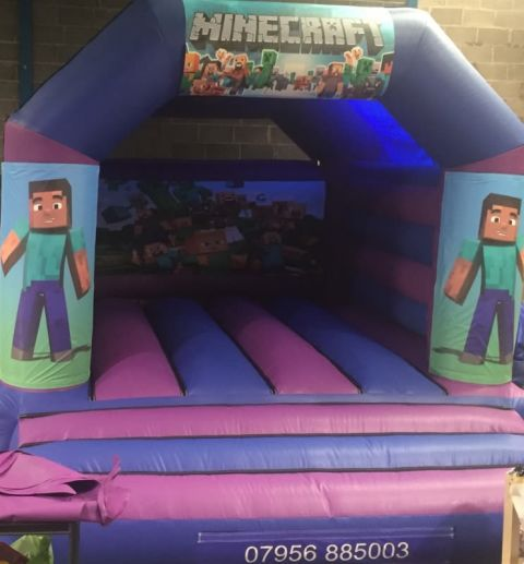 Minecraft Bouncy Castle - 12 X 14