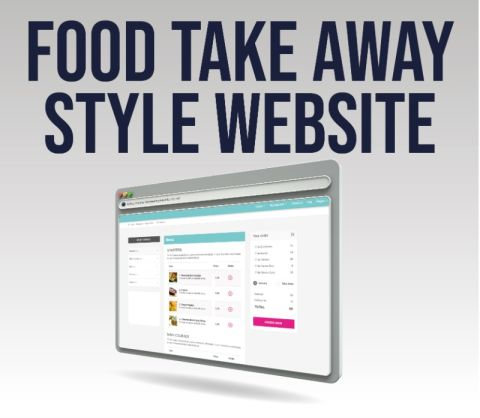 Food Take Away Style Website With E-commerce