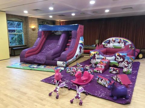 Unicorn Slide & Soft Play