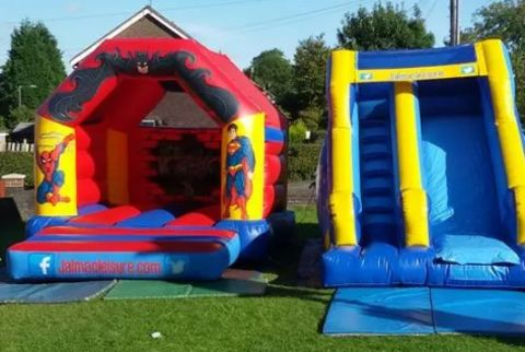 Castle 12 X 14 Feet And  Slide  Package Various Themes