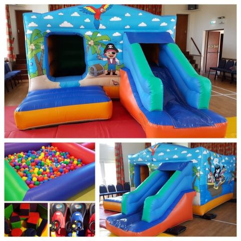 Bouncy Castle With Slide And Soft Play