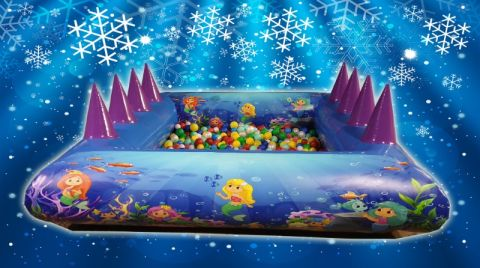 Single Rim Ball Pool With Air Jugglers