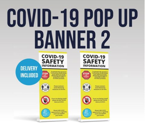 Covid 19 Pop Up Banner - Covid Safety Design