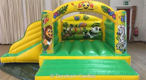 Jungle Toddler Bounce And Slide