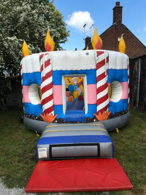 Birthday Cake Bouncy Castle