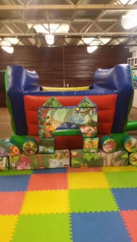 Jungle Themed Soft Play And Inflatable Skip