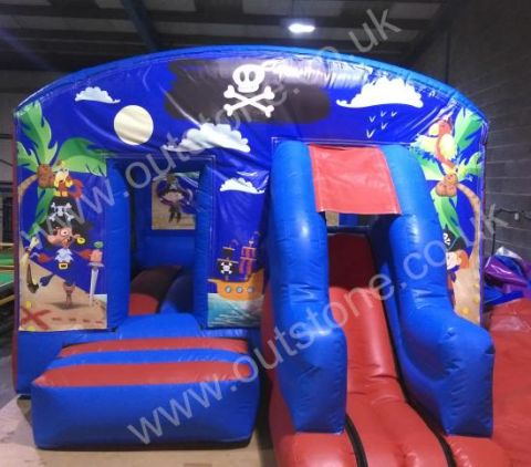 Pirate Front Combo Bouncy Castle Made Here In The Uk