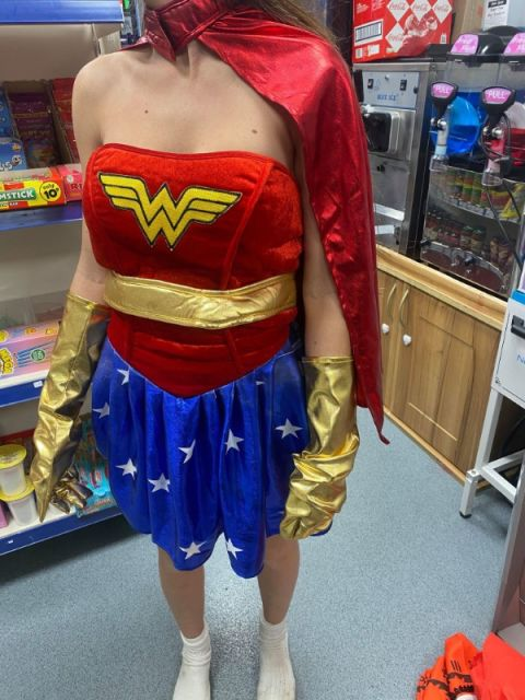 Superwoman Mascot