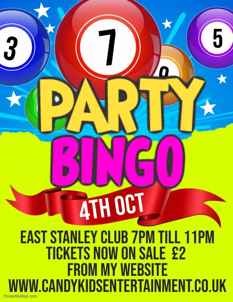 Party Bingo 4th October At East Stanley Club