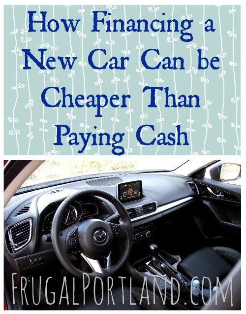 how financing a new car can be cheaper than paying cash frugal portland. Black Bedroom Furniture Sets. Home Design Ideas