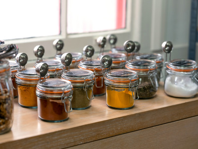 Rows of jars