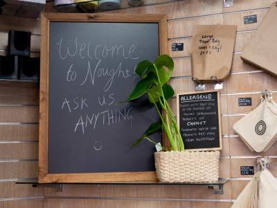 Sign saying ask us anything