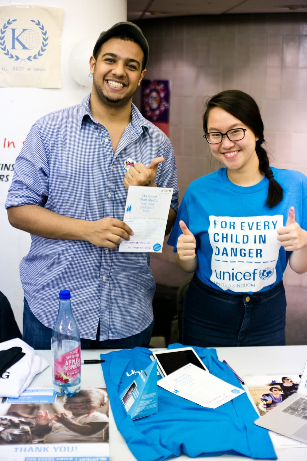 Volunteering providers at a stall