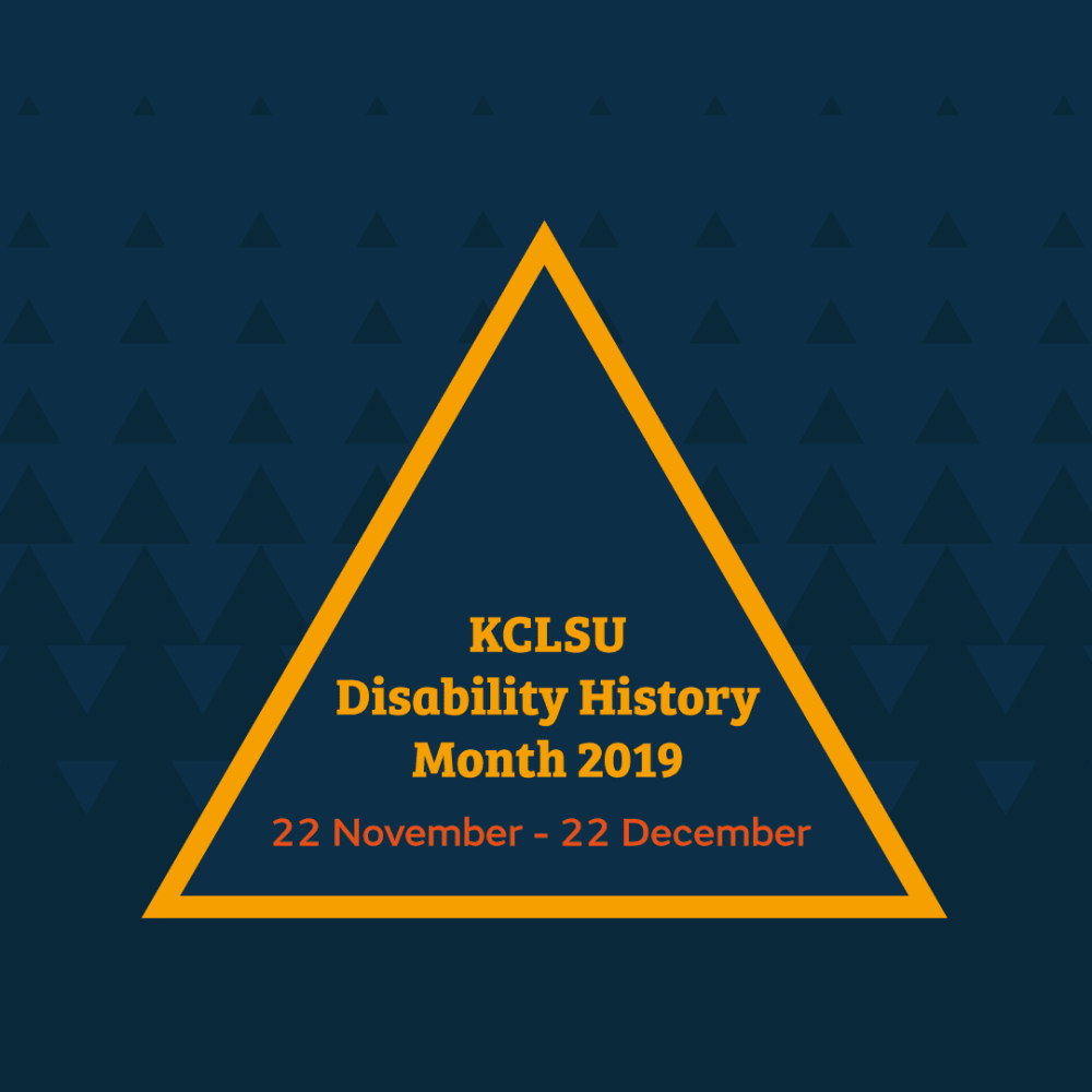 KCLSU Disability History Month 2019