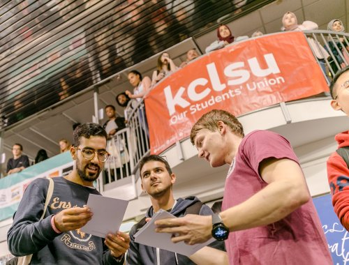 KCLSU student at the Welcome Fair