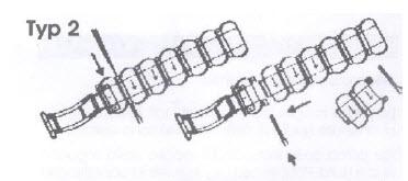 Uhrenarmband kürzen Typ 2