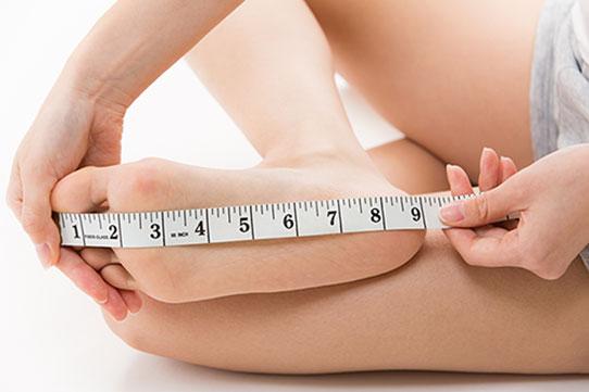 Mesurer la longuer du pied
