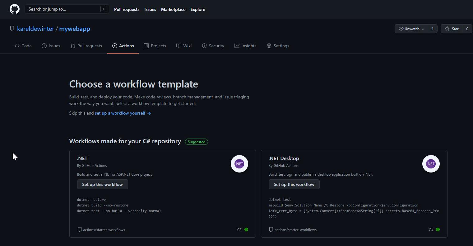 Search Starter Workflow
