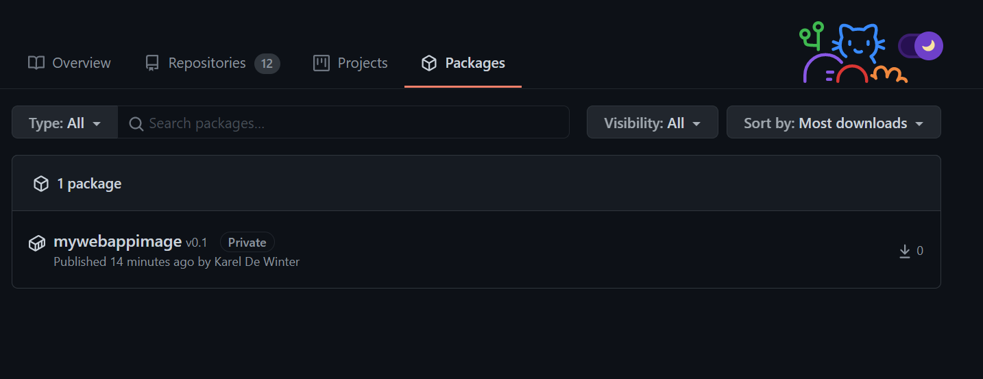 GitHub Packages - Container Image