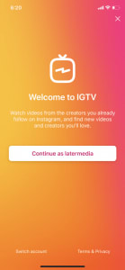 IGTV - mobile video experience