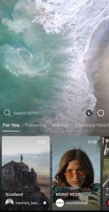 IGTV - mobile video curation