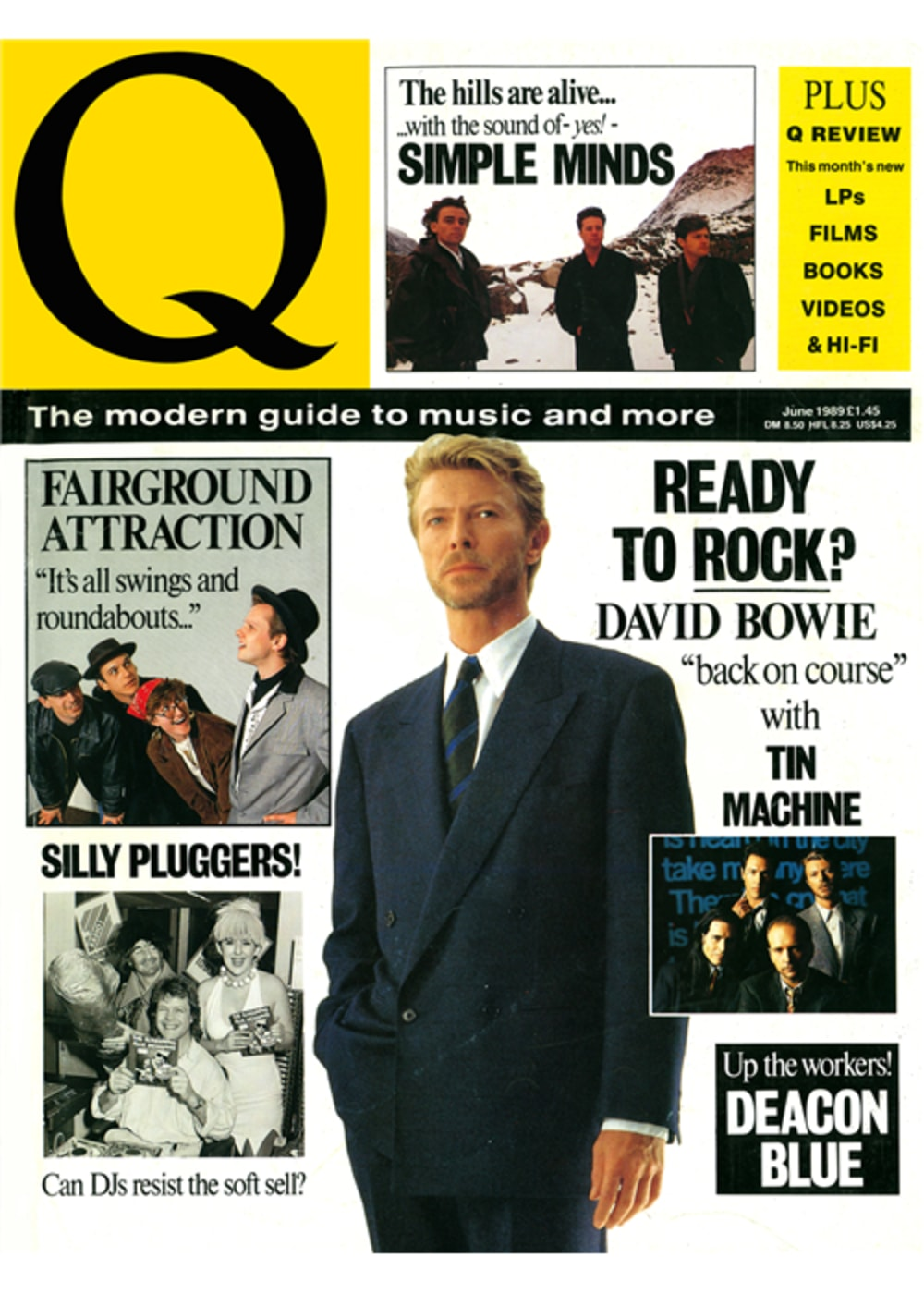 Bowie on the cover of Q magazine
