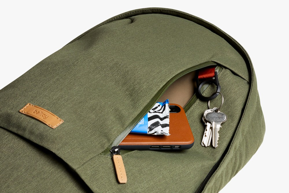 The Olive Bellroy Campus Backpack Quick Access Front Pocket