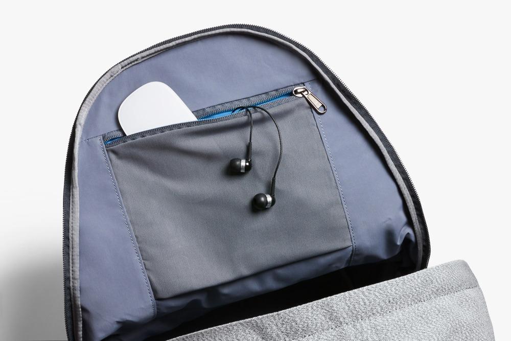 The Ash Bellroy Campus Backpack Interior Zip Pocket