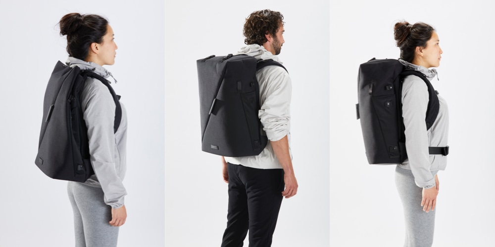 The RiutBag X35 Secure Origami Backpack Interior