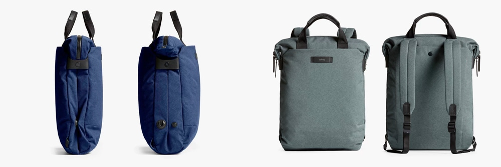 Bellroy Duo Totepack (ink blue left — moss right)