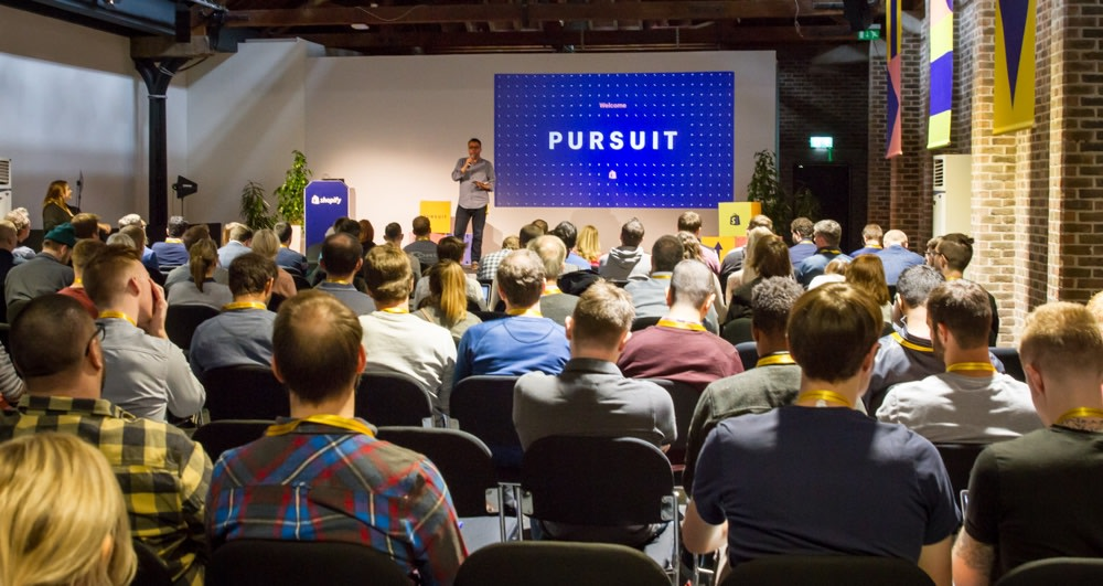 MC Duties at Shopify Pursuit London 2018