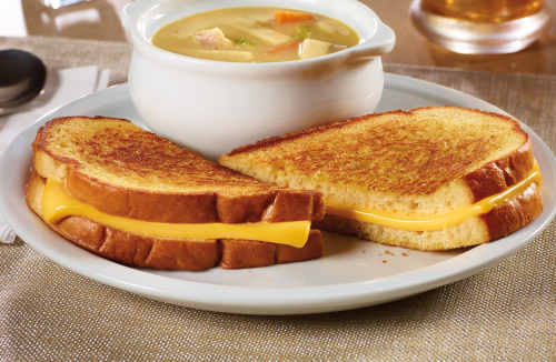 Denny's Grilled Cheese and Soup