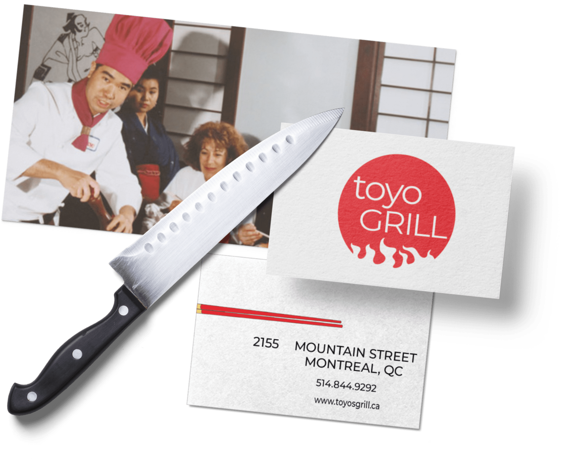 Toyo grill mockup
