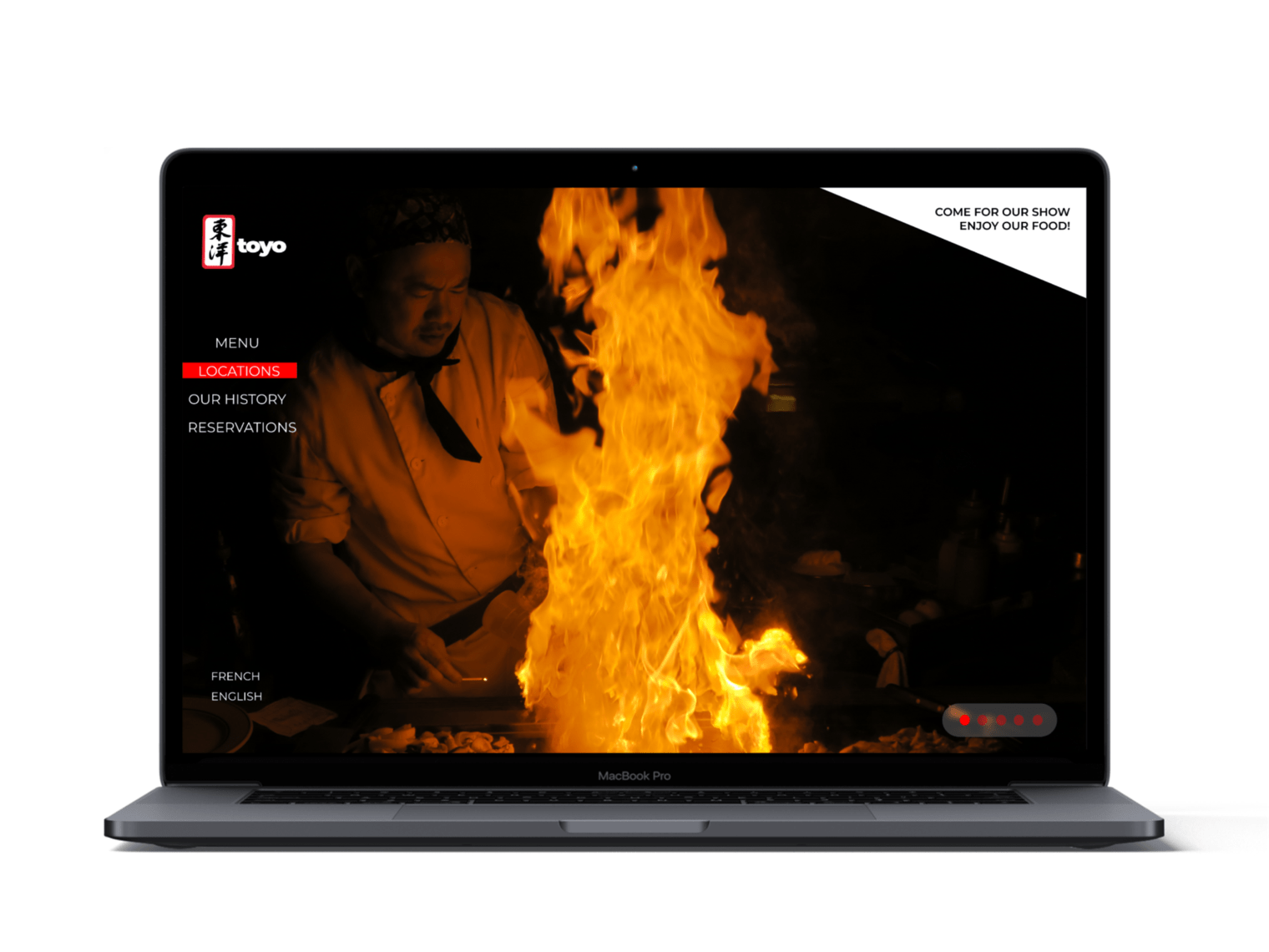 First home page design