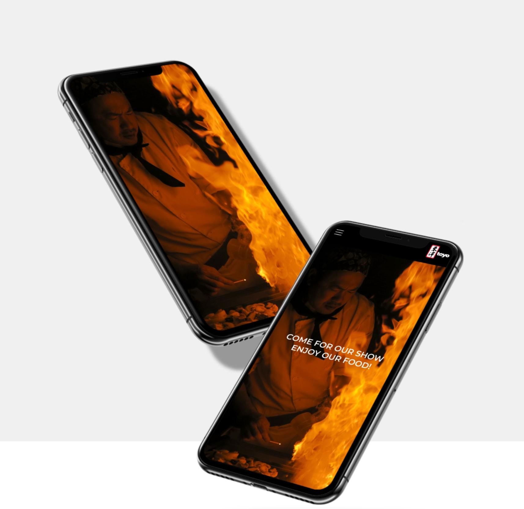 New site's iphone mockup
