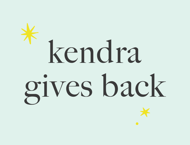 Kendra Gives Back Events
