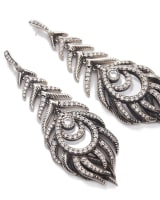 Elettra Statement Earrings in Antique Silver