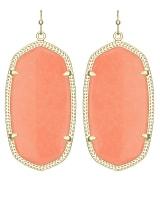 Danielle Earrings in Coral