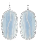 Danielle Earrings in Blue Lace Agate