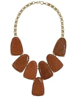 Harlow Statement Necklace in Goldstone
