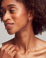 Gina Seamless Huggie Earrings in 14K White Gold