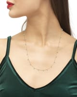 Miranda 14k Yellow Gold Strand Necklace in Turquoise
